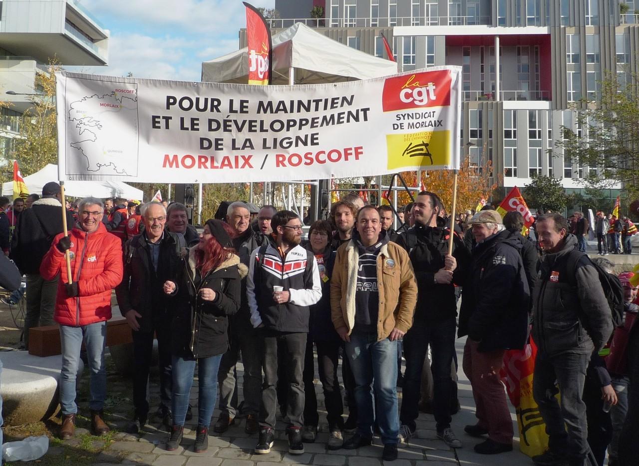Photo CGT cheminots Morlaix